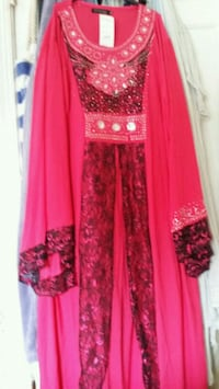 women's red and brown traditional dress Hyattsville, 20783