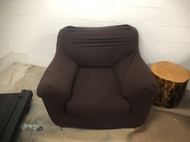 Oversized chair with cover