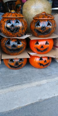 Clay Pumpkin heads