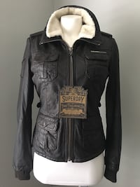Superdry woman Dr brown leather jacket  Toronto, M6L