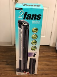 Seville Classics UltraSlimline Tower Fan Combo Pack