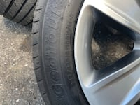 "Dodge 18"" rims and tires 3 rims and tires one rim is destroyed Baltimore, 21222"
