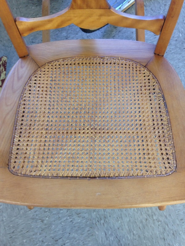 Vintage Small Wicker Rocking Chair 1