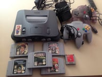 Nintendo 64 system with games