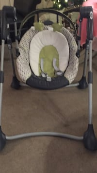 Baby's black, grey, and green portable swing Surrey, V3R 6A2