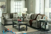 Gilman Charcoal Living Room Set   Houston