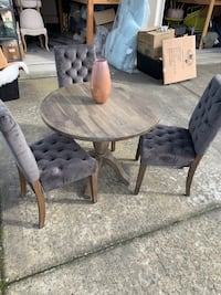 Drop leaf dining table + 3 chairs