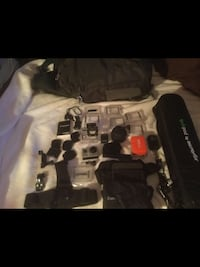 silver GoPro HERO action camera with accessories Montréal, H9H 3P4