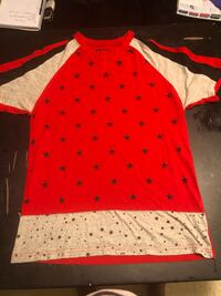 Red Black and Gray Star Shirt Baltimore, 21225