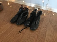 pair of black leather boots Los Angeles, 90027