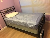 SINGLE Solid metal frame and box ans mattress bed