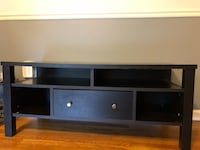 Black wooden tv stand with cabinet Riverdale, 20737