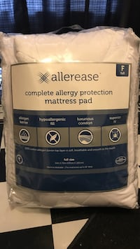 white Allerease mattress pad pack