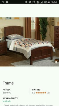 brown wooden bed frame with white bed sheet set Glendale, 85302