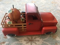 Farmhouse Red Truck with Pumpkins