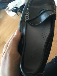 pair of black leather loafers Toronto, M6E 1R5