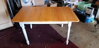 rectangular brown and white wooden table Alexandria, 22310