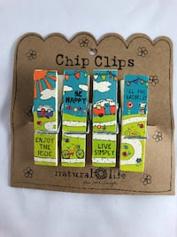 GIFT   Camping Theme Hand painted Chip Clips West Des Moines