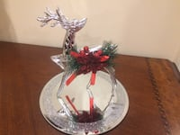 clear glass deer figurine