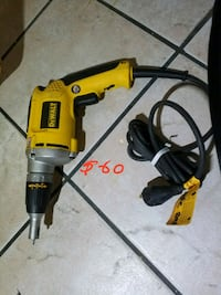yellow and black DeWalt corded power drill South Gate, 90280