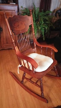 press back solid maple rocking chair