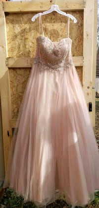Pink gown .