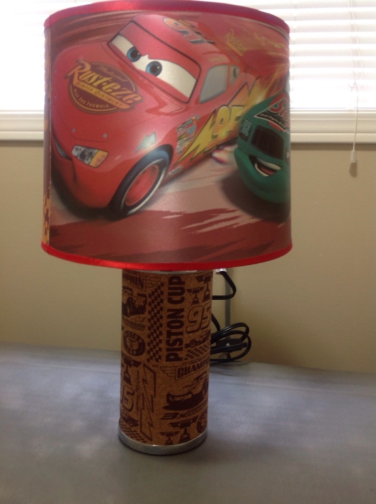 Sold Disney Pixar Cars Piston Cup Table Lamp w LED Light in