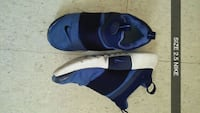 pair of blue-and-black Nike basketball shoes Roanoke