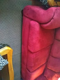 red suede 3-seat sofa Bremen