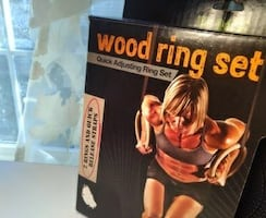 Home Gym Wood Ring Set