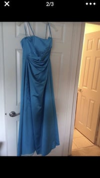 'Malibu' color dress David's Bridal. With tags size 6-8, bolero jacket