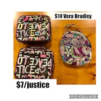 Vera Bradley and Justice lunch bags Germantown, 20874