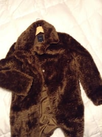 Forever21 brown fur coat size small