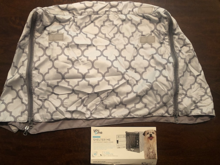 Photo XS Size Grey Reversible You & Me Dog Crate / Kennel Cover