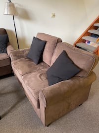 Couch & Loveseat--Brown