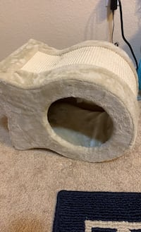 Cat bed and scratcher