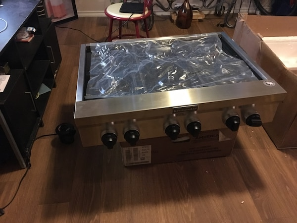 Used Stainless Steel 6 Burner Gas Cooktop 36 Kitchenaid For Sale