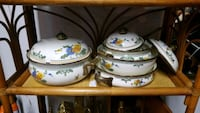 Vintage Enamelware and Brass (7pc set) Kensington, 20895