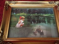 """""""morning discovery"""" minature lithograph number A3963 WALKERSVILLE"""