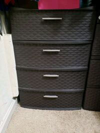 black wicker 3-drawer chest Bethesda, 20814