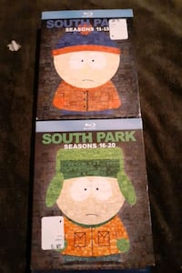 2 blue ray south park box sets brand new season's 11-15 and 16-20 Belmont, 28012