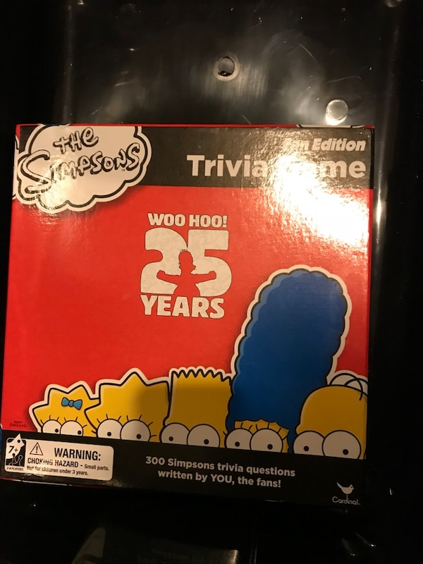 Brand new Simpsons board game