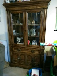 China cabinet wooden, glass display  Morgan Hill, 95037