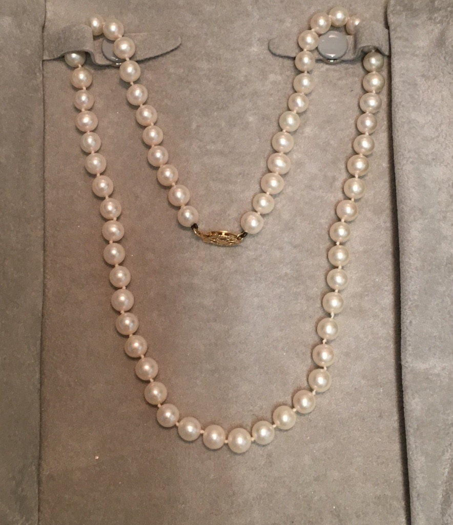 Delightful Pearl necklace cum on body consider, that