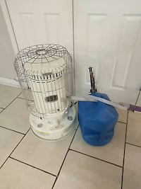 Propane heater with gas tank and equipment 110