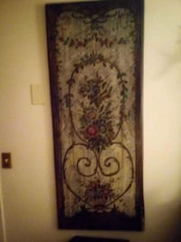 Pair of hanging panels wooden very little distress