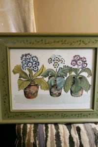 white and green flowers painting Hamilton, 45011