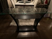 rectangular glass top table with black wooden frame Barrie, L4N 6A1