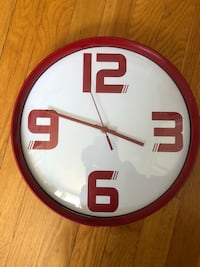 round white and brown analog wall clock Laval, H7W 3Y6