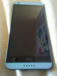 blue HTC Android smartphone